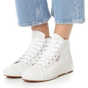 NWT Superga 2795 Leather High Top Sneakers